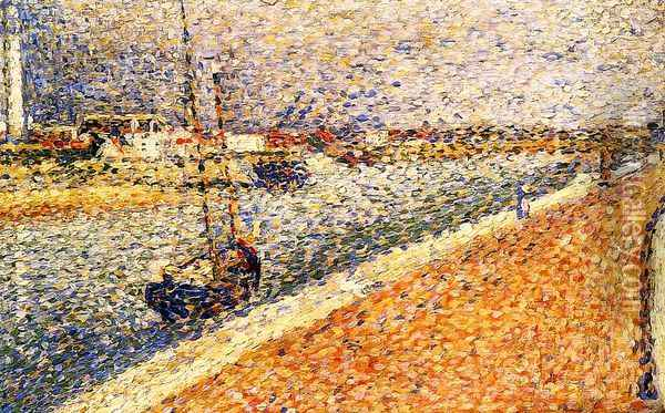 Study for 'The Channel at Grvelines, Petit-Fort-Phillipe Oil Painting - Georges Seurat