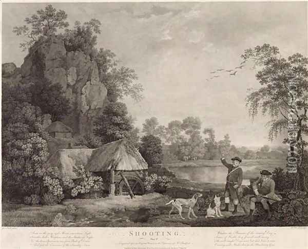 Shooting, plate 1, engraved by William Woollett 1735-85 1769 Oil Painting - George Stubbs