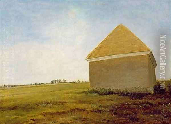 Newmarket Heath, with a Rubbing-Down House, c.1765 Oil Painting - George Stubbs
