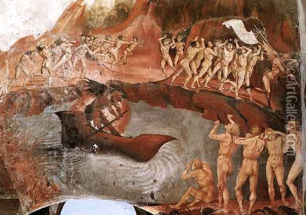 The Damned Being Plunged into Hell (detail-1) 1499-1502 Oil Painting - Francesco Signorelli