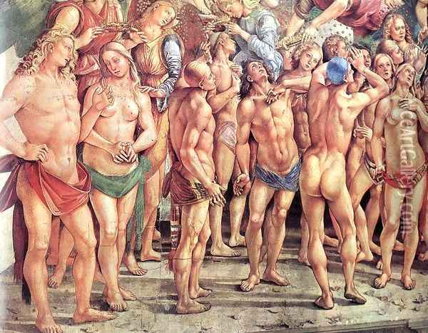 The Elect (detail-2) 1499-1502 Oil Painting - Francesco Signorelli