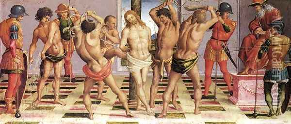 The Flagellation 1502 Oil Painting - Francesco Signorelli