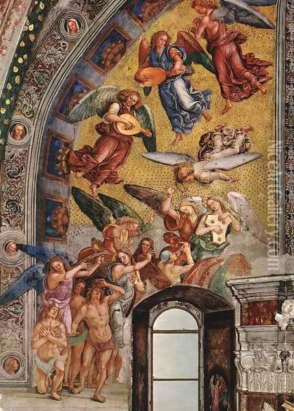 The Elect Being Called to Paradise 1499-1502 Oil Painting - Francesco Signorelli