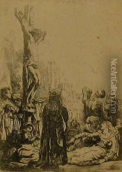 The Crucifixion Oil Painting - Rembrandt Van Rijn