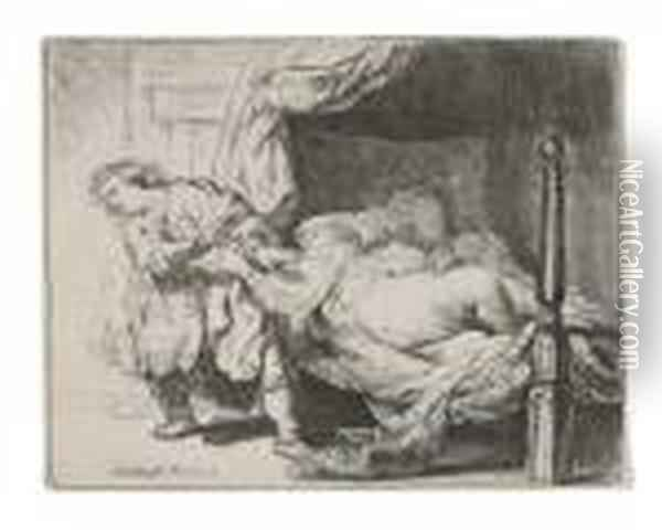 Untitled Oil Painting - Rembrandt Van Rijn