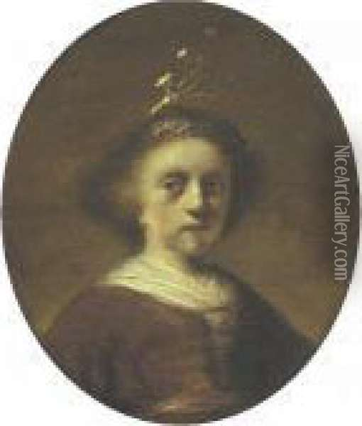 Portrait Of A Young Girl Oil Painting - Rembrandt Van Rijn