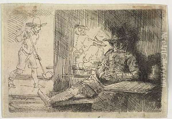 The Golf Player<</b> Oil Painting - Rembrandt Van Rijn