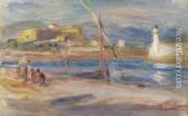 Fort Carre Et Phare D'antibes Oil Painting - Pierre Auguste Renoir