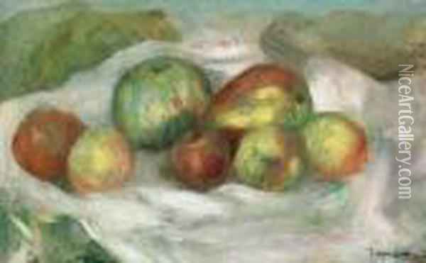 Nature Morte Aux Pommes Oil Painting - Pierre Auguste Renoir