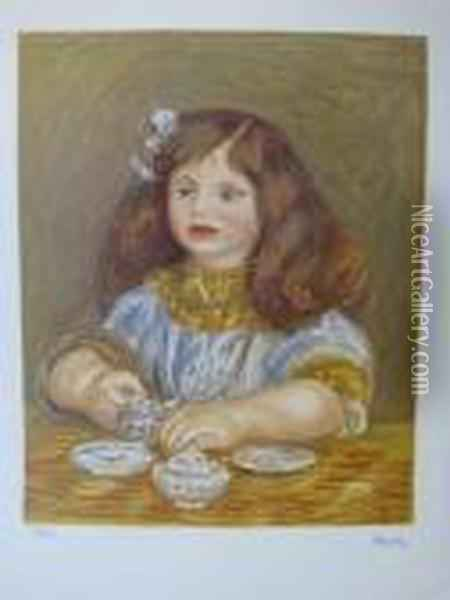 Portrait De Fille Oil Painting - Pierre Auguste Renoir