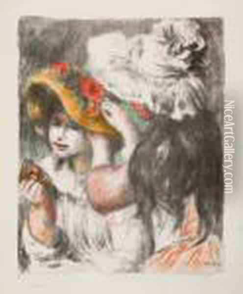 Le Chapeau Epingle Oil Painting - Pierre Auguste Renoir