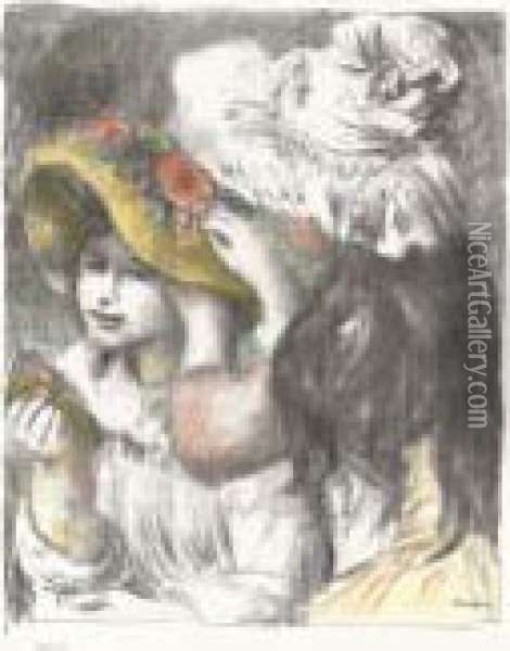 Le Chapeau Epingle, 2e Planche Oil Painting - Pierre Auguste Renoir