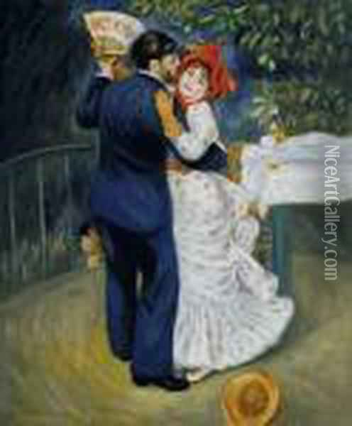 Dance In The Country Oil Painting - Pierre Auguste Renoir