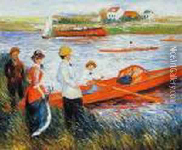 Oarsmen At Chatou Oil Painting - Pierre Auguste Renoir