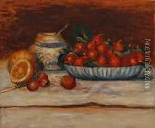 Strawberries Oil Painting - Pierre Auguste Renoir