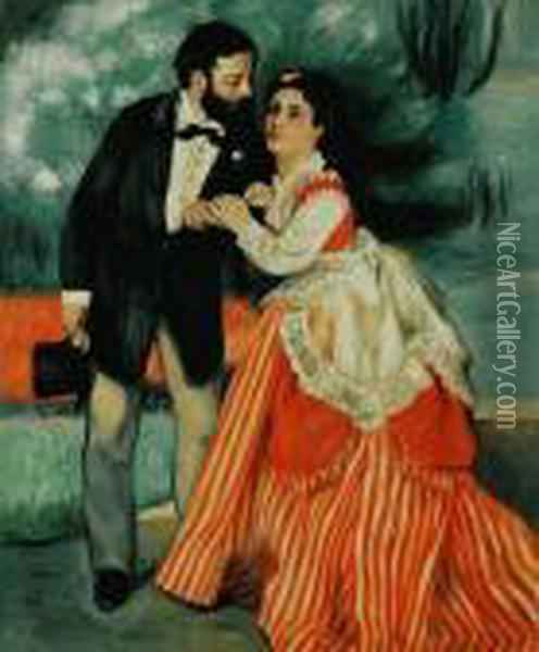 The Engaged Couple Oil Painting - Pierre Auguste Renoir