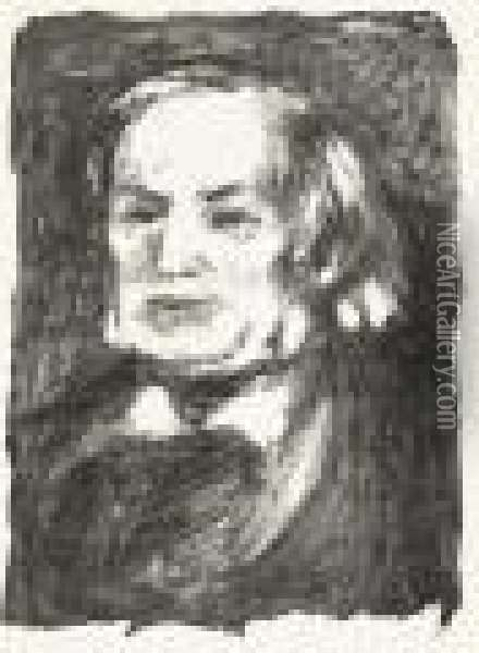 Richard Wagner. Oil Painting - Pierre Auguste Renoir