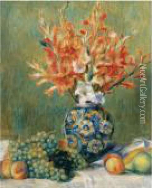 Nature Morte, Fleurs Et Fruits Oil Painting - Pierre Auguste Renoir