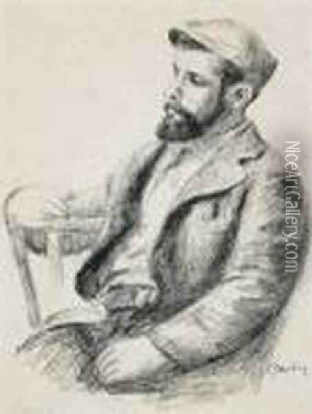 Louis Valtat (from L'album Des Douze Lithographies Originales) Oil Painting - Pierre Auguste Renoir
