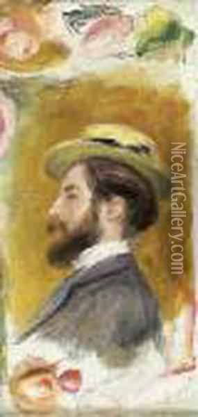Portrait De Monsieur Leon Clapisson Oil Painting - Pierre Auguste Renoir