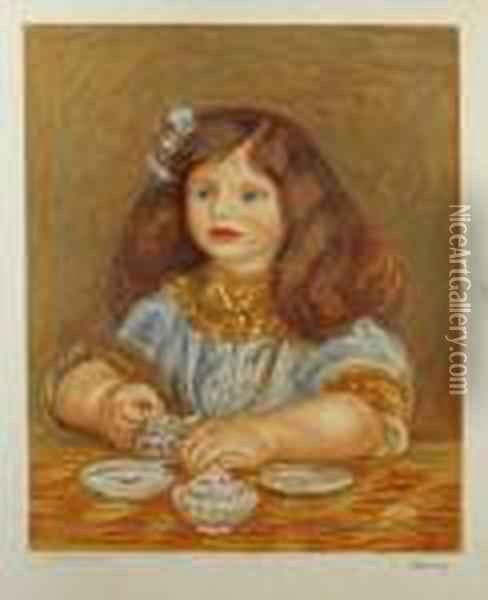 Portrait Of A Small Girl Oil Painting - Pierre Auguste Renoir