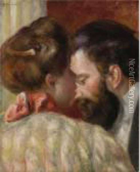 Confidence Oil Painting - Pierre Auguste Renoir