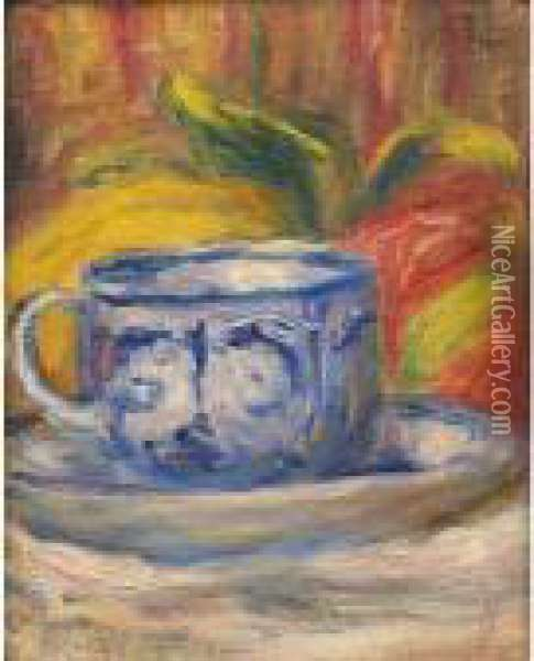Tasse Et Fruits Oil Painting - Pierre Auguste Renoir