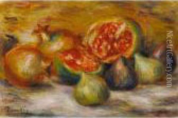 Nature Morte Aux Figues Oil Painting - Pierre Auguste Renoir