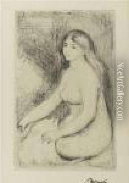 Baigneuse Assise (d.; S. 11) Oil Painting - Pierre Auguste Renoir