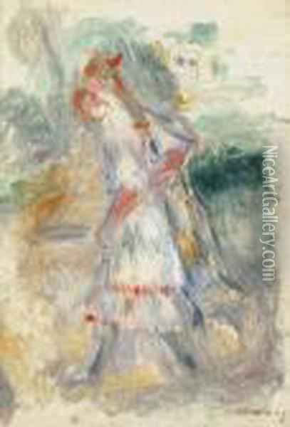 Les Fillettes Oil Painting - Pierre Auguste Renoir