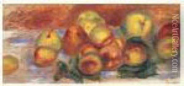 Fruits Oil Painting - Pierre Auguste Renoir