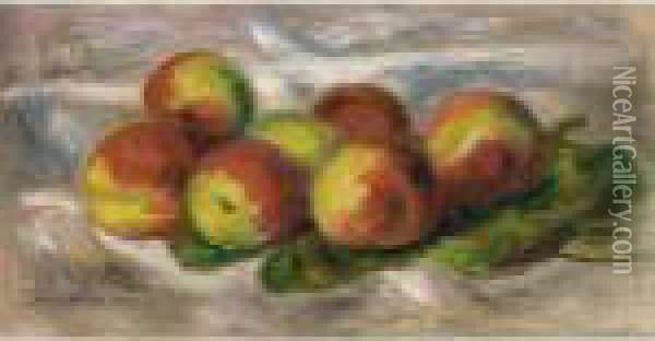 Nature Morte Aux Peches Oil Painting - Pierre Auguste Renoir