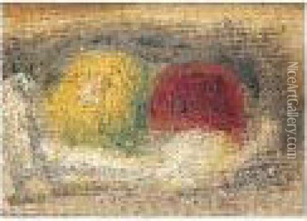 Fruits Sur Un Drape Oil Painting - Pierre Auguste Renoir