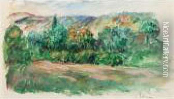 Paysage A Essoyes Oil Painting - Pierre Auguste Renoir