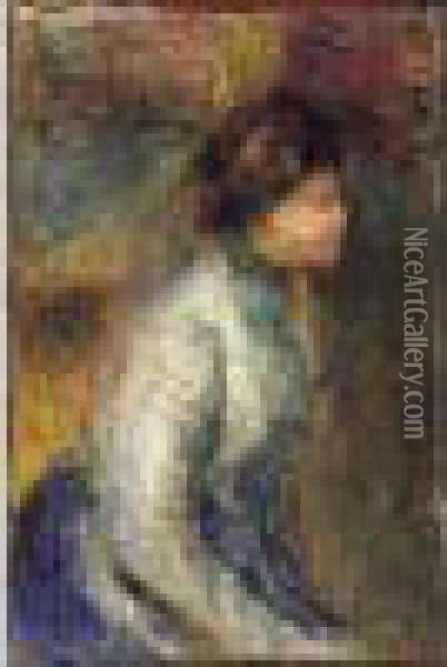 Femme Assise Oil Painting - Pierre Auguste Renoir