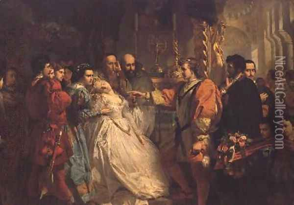 Claudio, deceived by Don John, accuses Hero, from Much Ado About Nothing Oil Painting - Marcus Stone