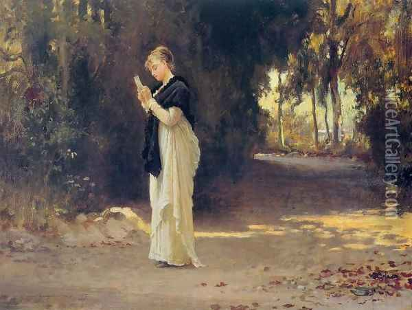 The Love Letter Oil Painting - Marcus Stone