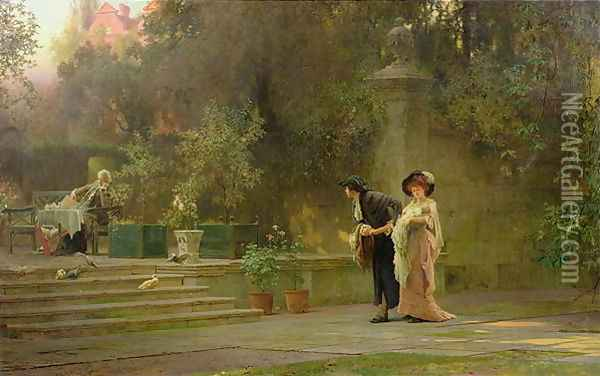 Married for Love, 1882 Oil Painting - Marcus Stone