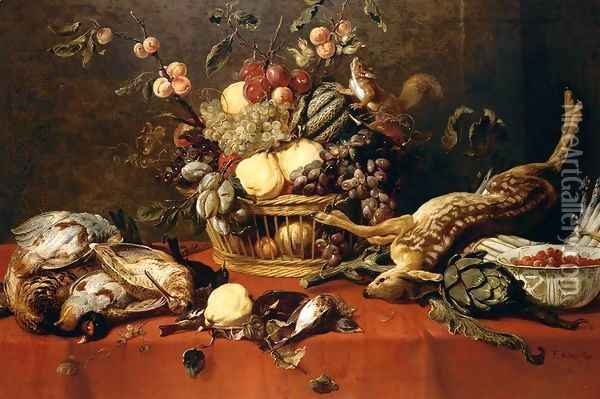 Still-Life 1635-39 Oil Painting - Frans Snyders