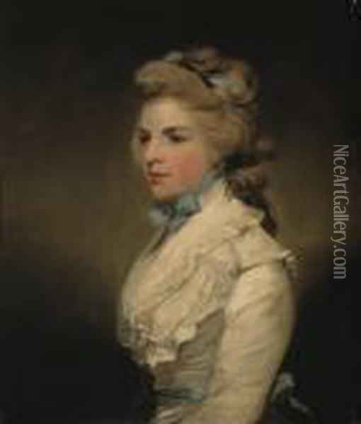 Portrait De Miss Frances Kemble, Future Mrs. Twiss Oil Painting - Sir Joshua Reynolds
