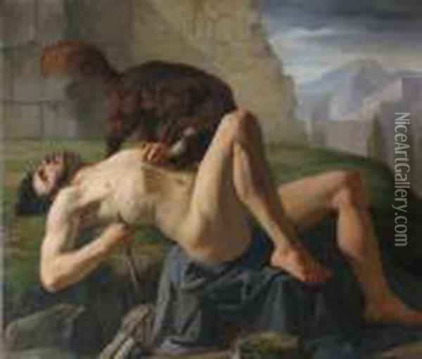 Agony Of A Warrior Oil Painting - Sebastiano Ricci