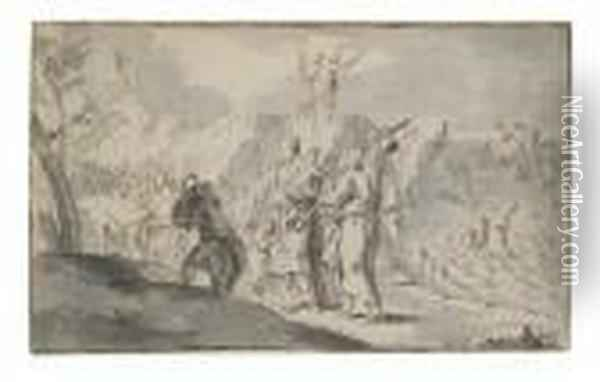 Moses Parting The Red Sea Oil Painting - Sebastiano Ricci