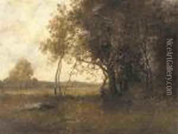The Edge Of The Wood Oil Painting - Leon Richet