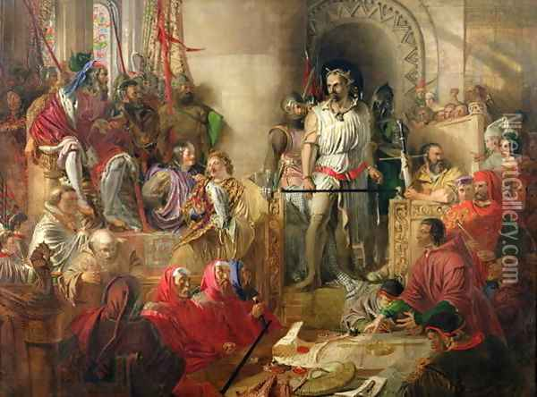 The Trial of Sir William Wallace at Westminster Oil Painting - William Bell Scott