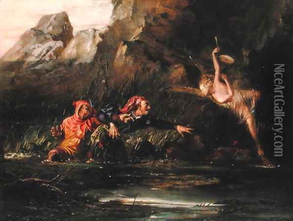The Tempest Oil Painting - William Bell Scott