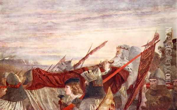The Last March of Edward I Oil Painting - William Bell Scott