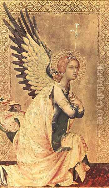The Angel of the Annunciation (1) 1333 Oil Painting - Louis de Silvestre