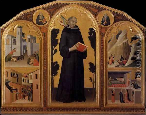 Blessed Agostino Novello Altarpiece 1324 Oil Painting - Louis de Silvestre