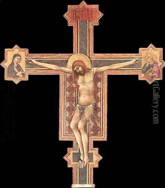 Crucifix 1321-25 Oil Painting - Louis de Silvestre