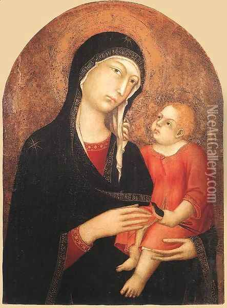 Madonna and Child (from Castiglione d'Orcia) 1320-25 Oil Painting - Louis de Silvestre
